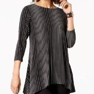 New Alfani High Low Striped Ombre Top Tunic Shirt